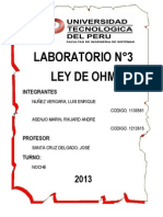 Informe n3 - Ley de Ohm
