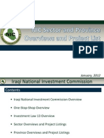 Iraq- NIC Sectors Provinces and Projects