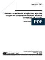 Dynamic Characteristic Analysis of a Hydraulic Engine Mount With Lumped Model Based on Finite Element An