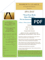 SpaDay Flyer