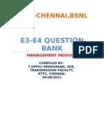 E3 E4 Management Question Bank