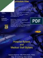 Prof.sutomo Kasiman - Hospital by Laws & Medical Staff by La