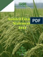 IRRI AR 2012 - Audited Financial Statements