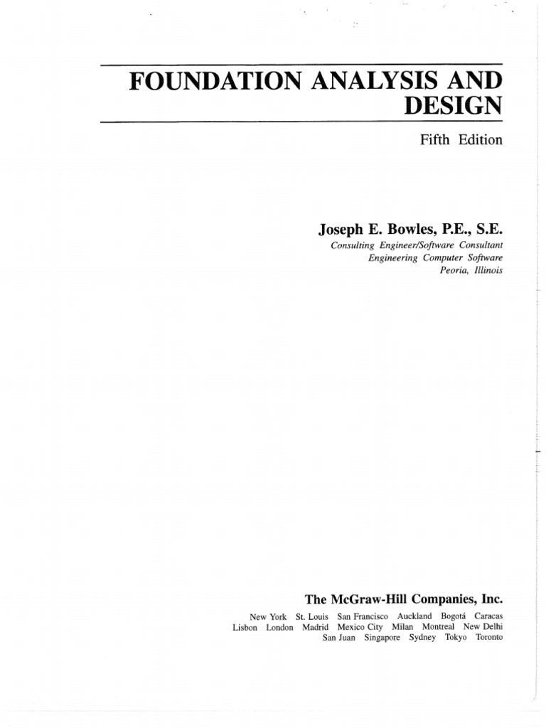 Foundation analysis and design 5th edition joseph e bowles fandeluxe Gallery