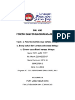 BML 3043 Fonetik & Fonologi Bahasa Melayu
