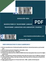 CRGO Transformer Lamination Manufacturer - CRNGO Transformer Lamination Manufacturer in India