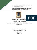 Cables de Cobre de Transmision de Datos y Telefonia