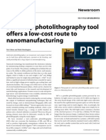 benchtop photolithography