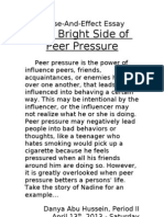 Cause and Effect Essay - Peer Pressure