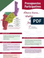 Diptico Presupuesto Participativos Torredonjimeno