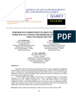 Performance Improvement by Reducing Compressor Work of R-134a and r22 Used Refrigeration Systems