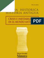 VALDÉS MATÍAS, P., 2012, «Clientelas, relaciones internacionales e imperialismo en la expansión de la República romana...», Studia Historica. Historia Antigua, Vol 30., pp. 255-269