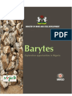 Barytes Exploration Opportunity in Nigeria