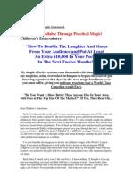 Kidshow Childrens Magic Course