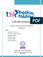 Baskin Robbins Brand Share Analysis