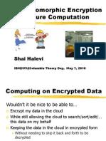 On Homomorphic Encryption and Secure Computation