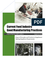 CGMP for Food Industry