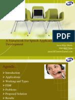 A Framework for Speech Recognition Development