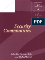 Security Communities - Adler & Barnett (Eds.)