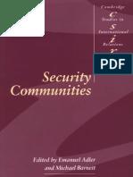 Security Communities - Adler & Barnett (Eds.)