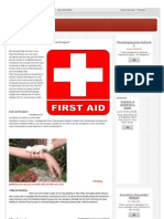 First AID For Cuts And Scrapes?