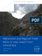 Policy Brief - Central Asian Trade and Afghanistan