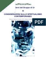 11 - Considerazioni Sullo Spiritualismo Contemporaneo -2a Edizione-