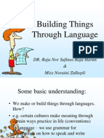 Building Things Through Language
