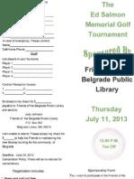 Golf Tournament Flyer 2013