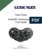 Gear Clock Manual
