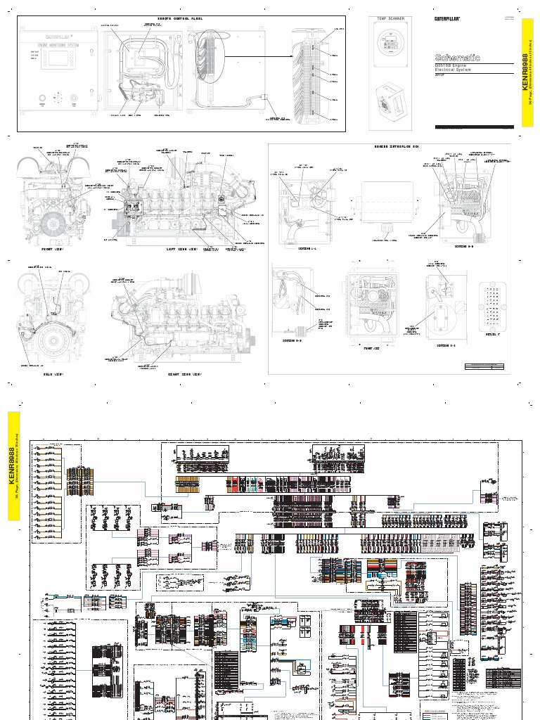 CATERPILLAR GAS ENGINE 3516 Schematic DIAGRAM | Electrical Connector on