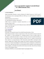 Analiza Si Evaluarea Operatiunilor Logistice Ale Firmei S.C Billa Romania SRL