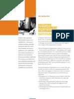 Solution Management Optimization