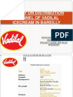 A Study on Distribution Channel of Vadilal Icecream