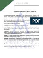 VISIÓN MISION DE LA UNIVERSIDAD PERUANA DE LAS AMÉRICAS