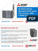 Mitsubishi D700 Variable Frequency Drive Instruction