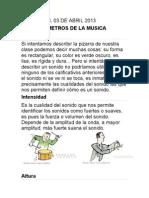 Guia Musica Parametros