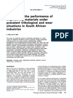 A Review of the Performance of Engineering Materials Under Prevalent Tribological and Wear Situations in South African