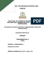 Modulo Informatica i Marzo-Agosto 2013