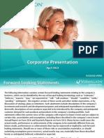 Vermillion (VRML) Investor Presentation 2013-04-10