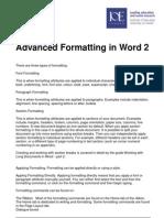 advanced formatting 2