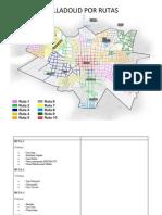 Mapa de Valladolid Por Rutas