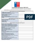 Formato Presentacion Proyecto 2013