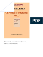 30757-SYLVAIN RICHARD-Chroniques Litteraires Vol 3-[InLibroVeritas.net]