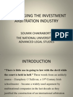 Challenging the Investment Arbitration Industry- A Presentation by Soumik Chakraborty