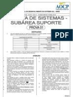 Aocp 2012 Brde Analista de Sistemas Suporte Prova