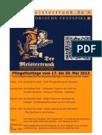 """Das Historische Festspiel """"Der Meistertrunk"""" oder Tilly in Rothenburg an Pfingsten 2013"""