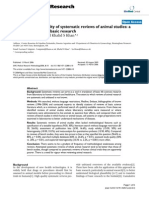 Methodological Quality of Systematic Reviews of Animal Studies - a Survey of Reviews of Basic Research