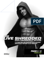 Live Shredded 12 Week 3 Phase Diet + Workout Guide by MusclePharm