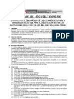 DIRECTIVA N°05-2013 NORMAS PARA EL DESARROLLO DE LAS ACCIONES DE TUTORÍA